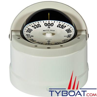 RITCHIE - Compas sur fût DNB-200 série Navigator certifié Wheelmark - couleur blanc