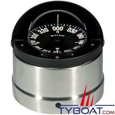 RITCHIE - Compas sur fût DNB-200 série Navigator certifié Wheelmark - couleur gris