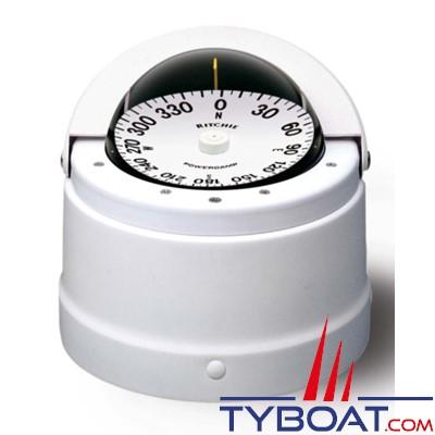 RITCHIE - Compas sur fût DNW-200 série Navigator - couleur blanc / lecture blanche
