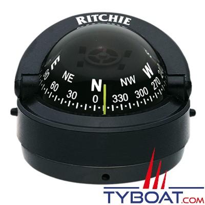 RITCHIE - Compas sur fût S-53 série Explorer - couleur noir / lecture noire