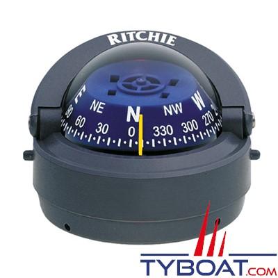RITCHIE - Compas sur fût S-53G série Explorer - couleur gris / lecture bleue