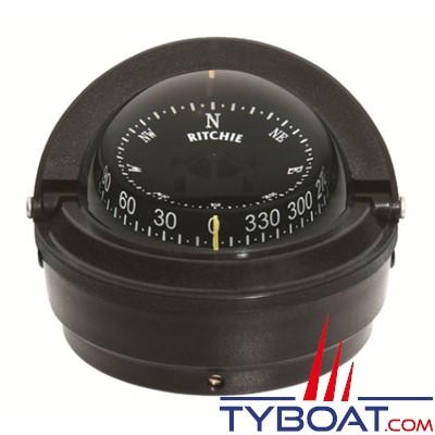 RITCHIE - Compas sur fût S-87 série Explorer - couleur noir / lecture noire