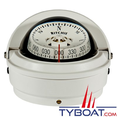 RITCHIE - Compas sur fût S-87 série Voyager certifié Wheelmark - couleur blanc