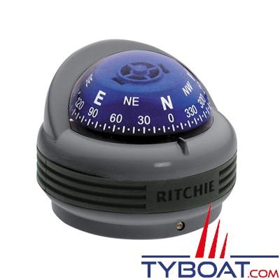 RITCHIE - Compas sur fût TR-33G série Treck - couleur noir / lecture bleue