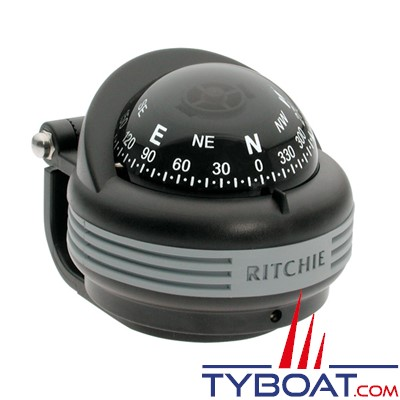 RITCHIE - Compas sur support TR-31 série Treck - couleur noir / lecture noire