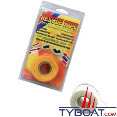 Rouleau silicone autofusionnant Rescue Tape longueur 3,65 m x largeur 2,55 cm blanc