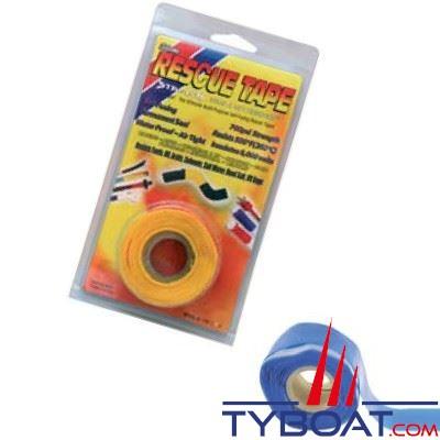 Rouleau silicone autofusionnant Rescue Tape longueur 3,65 m x largeur 2,55 cm bleu