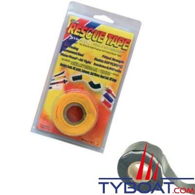 Rouleau silicone autofusionnant Rescue Tape longueur 3,65 m x largeur 2,55 cm noir