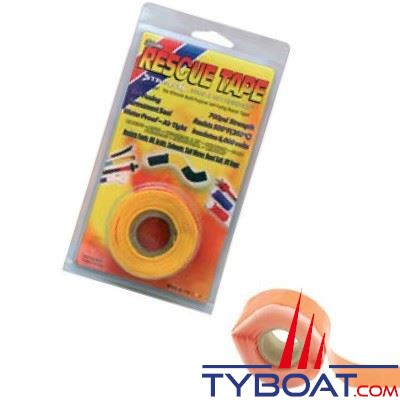 Rouleau silicone autofusionnant Rescue Tape longueur 3,65 m x largeur 2,55 cm orange