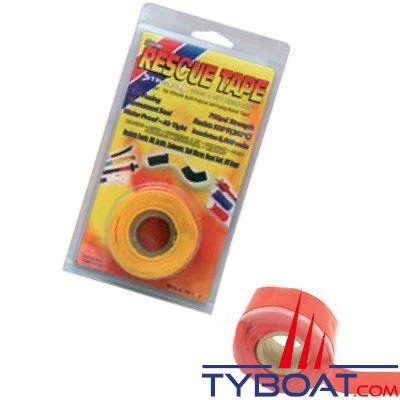 Rouleau silicone autofusionnant Rescue Tape longueur 3,65 m x largeur 2,55 cm rouge