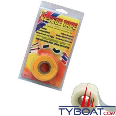 Rouleau silicone autofusionnant Rescue Tape longueur 3,65 m x largeur 2,55 cm transparent
