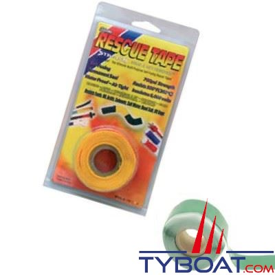 Rouleau silicone autofusionnant Rescue Tape longueur 3,65 m x largeur 2,55 cm vert