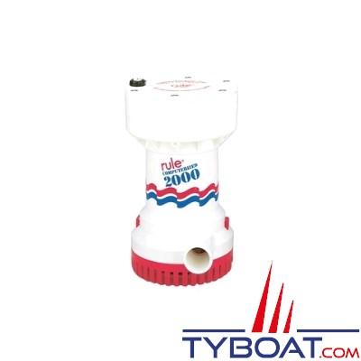 RULE - Pompe de cale automatique - Série 2000 - 12 Volts - 7600 litres/heure
