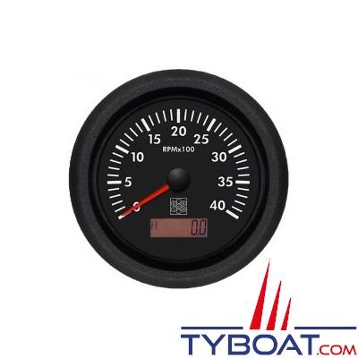 S.E.I.N - Compte-tours avec horamètre Ø100mm - 12/24V 0-4000 T/mn - Borne W