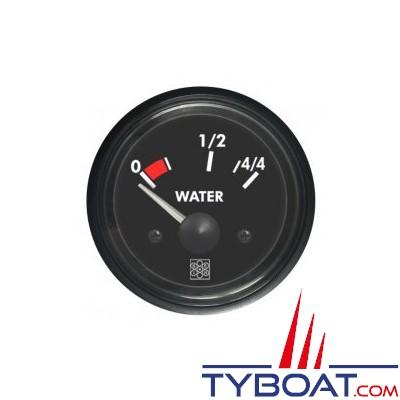 S.E.I.N - Indicateur niveau d'eau - 12 Volts - 10-180 OHM - Ø 52 mm
