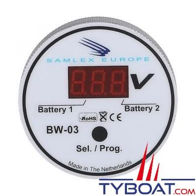 Samlex Europe - Contrôleur de batterie 12/24 Volts - Ø 60x20mm