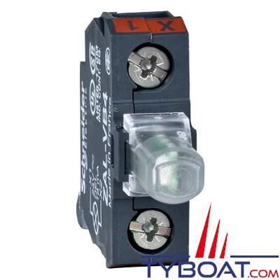 SCHNEIDER ELECTRIC - Bloc lumineux pour boîte à boutons verts DEL intégrés 24 Volts