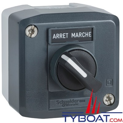 SCHNEIDER ELECTRIC - Boîte 1 bouton tournant Ø 22 mm à manette 1F