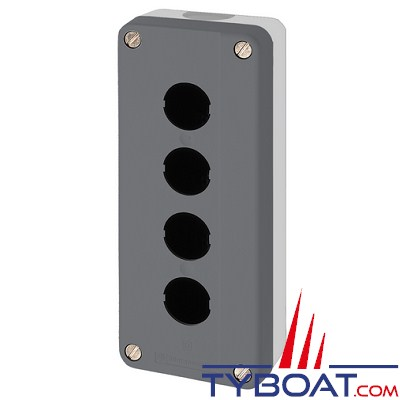 SCHNEIDER ELECTRIC - Boîte à boutons vide XALD grise 4 perçages