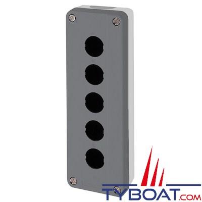 SCHNEIDER ELECTRIC - Boîte à boutons vide XALD grise 5 perçages