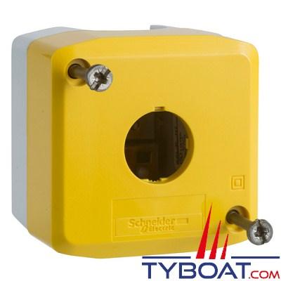 SCHNEIDER ELECTRIC - Boîte à boutons vide XALD jaune 1 perçage