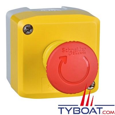 SCHNEIDER ELECTRIC - Boîte à boutons XALK - 1 bouton poussoir Arrêt d'Urgence 1O+1F