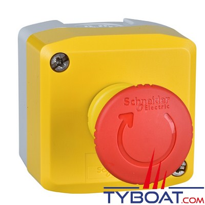 SCHNEIDER ELECTRIC - Boîte à boutons XALK - 1 bouton poussoir Arrêt d'Urgence 2O+1F