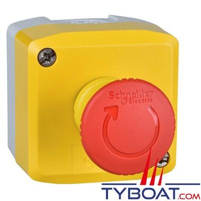 SCHNEIDER ELECTRIC - Boîte à boutons XALK - 1 bouton poussoir Arrêt d'Urgence 2O