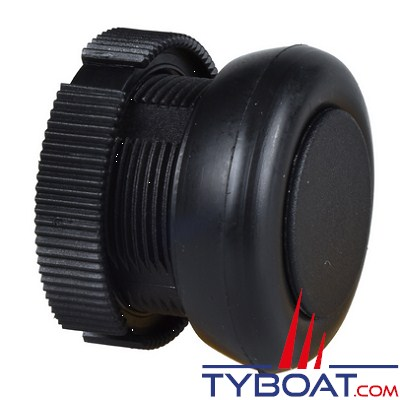 SCHNEIDER ELECTRIC - Tête ronde pour bouton poussoir à impulsion XACA noir capuchonné