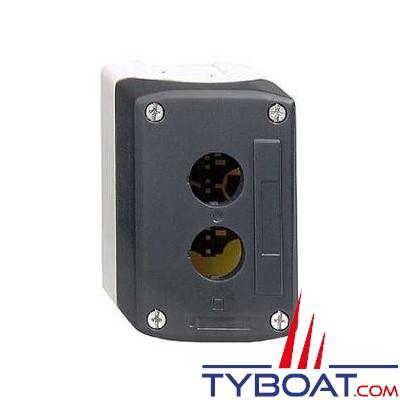 SCHNEIDER ELECTRIC - Boîte à boutons vide XALD grise 2 perçages