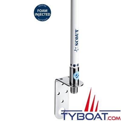Scout - Antenne VHF pour voilier KM-3 - Fouet fibre de verre - 1 mètre - 3 db - Connecteur N