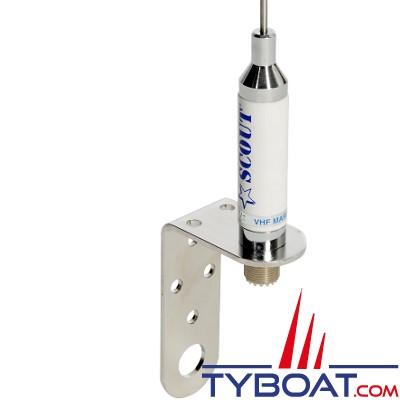 Scout - Antenne VHF pour voilier KM-3A - Inox - 1 mètre - 3 db - Connecteur SO 239