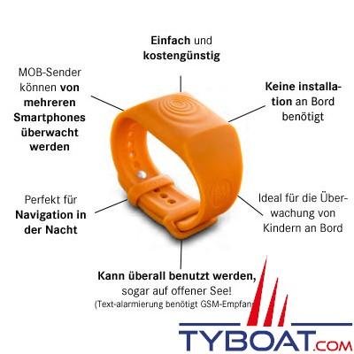 SEA-TAGS - Bracelet Système d'alerte d'homme à la mer - MOB (Pack de 3 unités)