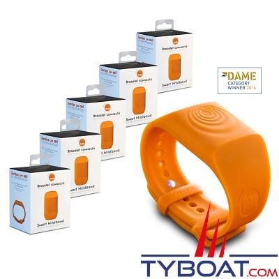 SEA-TAGS - Bracelet Système d'alerte d'homme à la mer - MOB (Pack de 5 unités)