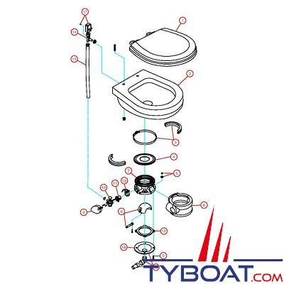 Sealand - Joint inférieur de socle (repère 15) - Vacuflush modèle 706