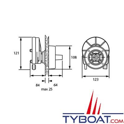 SEASTAR - Boîtier de direction SH8050-1P pour moteur hors-bord jusqu'à 55CV