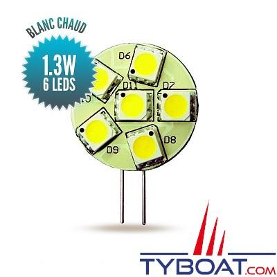 Seatronic - Ampoule G4 blanc chaud, 6 leds longitudinales - 10 watts - 9/30 volts