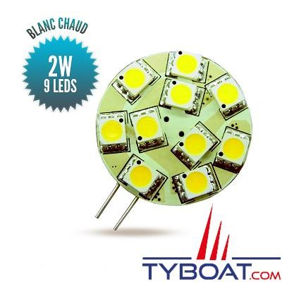 Seatronic - Ampoule G4 blanc chaud, 9 leds longitudinales - 20 watts - 9/30 volts
