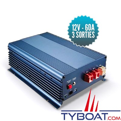 Seatronic - Chargeur de batterie - 12 volts - 60 ampères - 3 sorties - (Sonde et commande à distance en option)