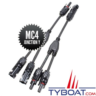 Seatronic - Connecteurs MC4 de jonction Y (1M-2F + 2M-1F )
