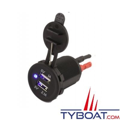Prise USB double 1A et 2.1A - ETABUSB