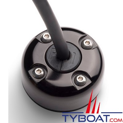 SEAVIEW - Passe câble en Alu anodisé noir, étanche, résistant aux UV : Câble de 2 à 8 mm, prise de 17mm