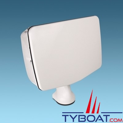 Seaview - POWER POD façade non découpée (Surface max utile 413 x 292) rotation et inclinaison possible - couleur blanche