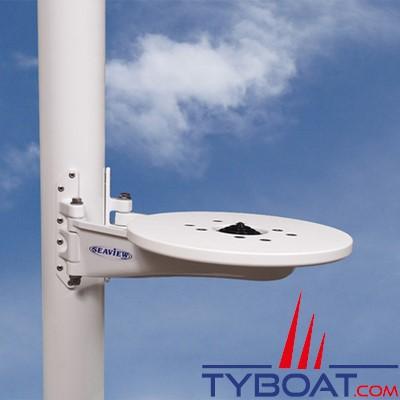 Seaview - Support de mât SM-15-A pour satdome KVH M1/M2/M3, Intellian i1/i2/i3, Raymarine 37STV