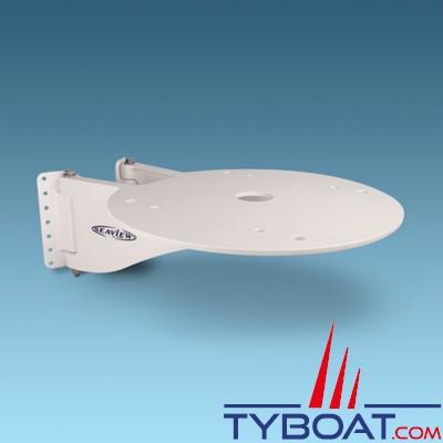 Seaview - Support de mât SM-18-A pour satdome KVH M5, Intellian i4, Raymarine 45STV, SeaKing 1800-HD