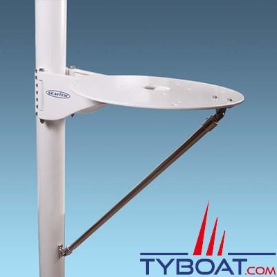 Seaview - Support de mât SM-24-A pour satdome KVH M7, Intellian i6/d6, Ray 60STV / livré avec jambe de maintien en Inox