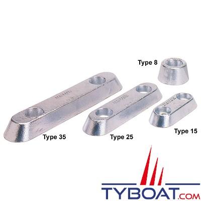 Anode à boulonner zinc - type25 - 2.3 KG
