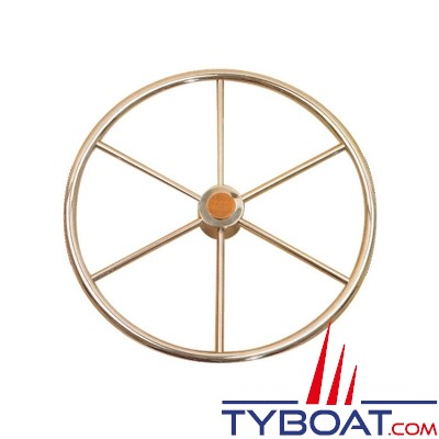 Gouvernail - Barre à roue inox Atlantic - 600 mm