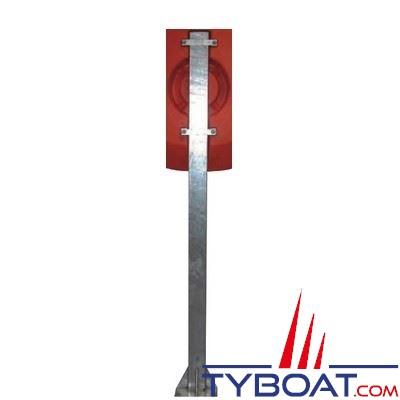 Poteau pour coffre à bouée hauteur 2 mètres