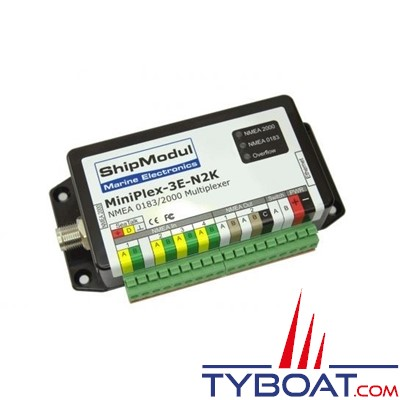 SHIPMODUL - Multiplexeur MiniPlex-3E-N2K - NMEA0183 NMEA 2000 - éthernet - 4 entrées / 2 sorties